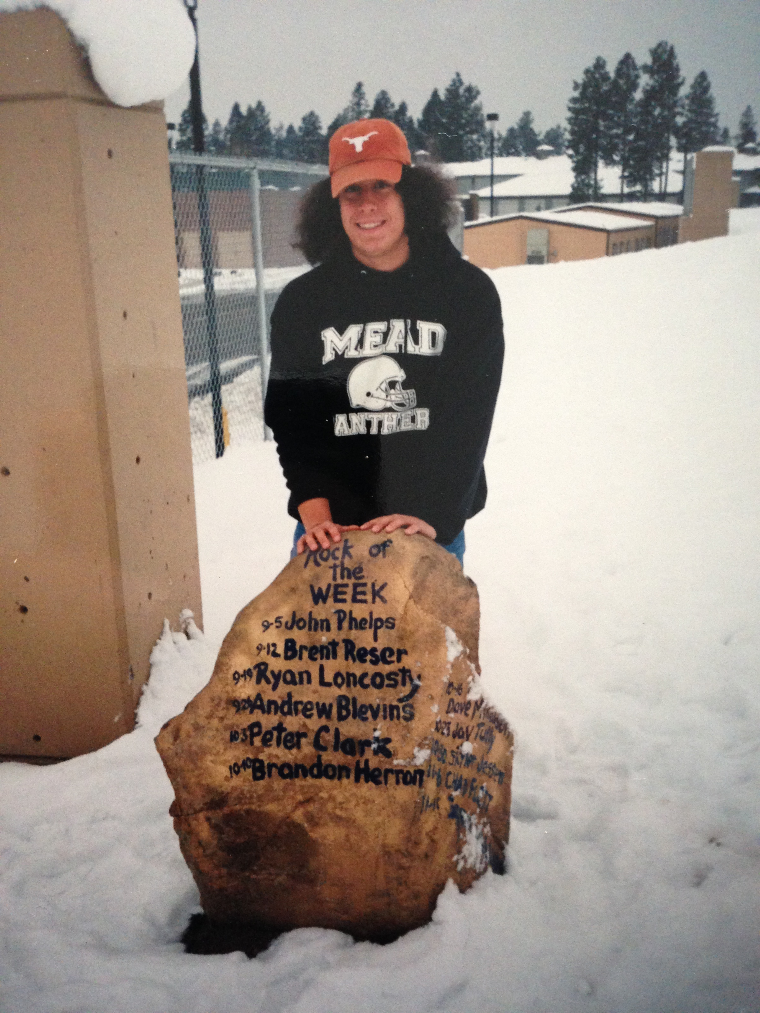 This rock that I am standing next to (excuse the hair) plays a large part in the legacy of Sean Carty. Read on to find out how.