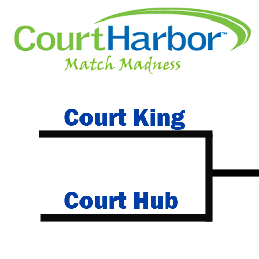 "This is today's initial first round matchup. This graphic is now posted on Facebook and to vote all you need to do is respond underneath it with either ""Court King"" or ""Court Harbor."""