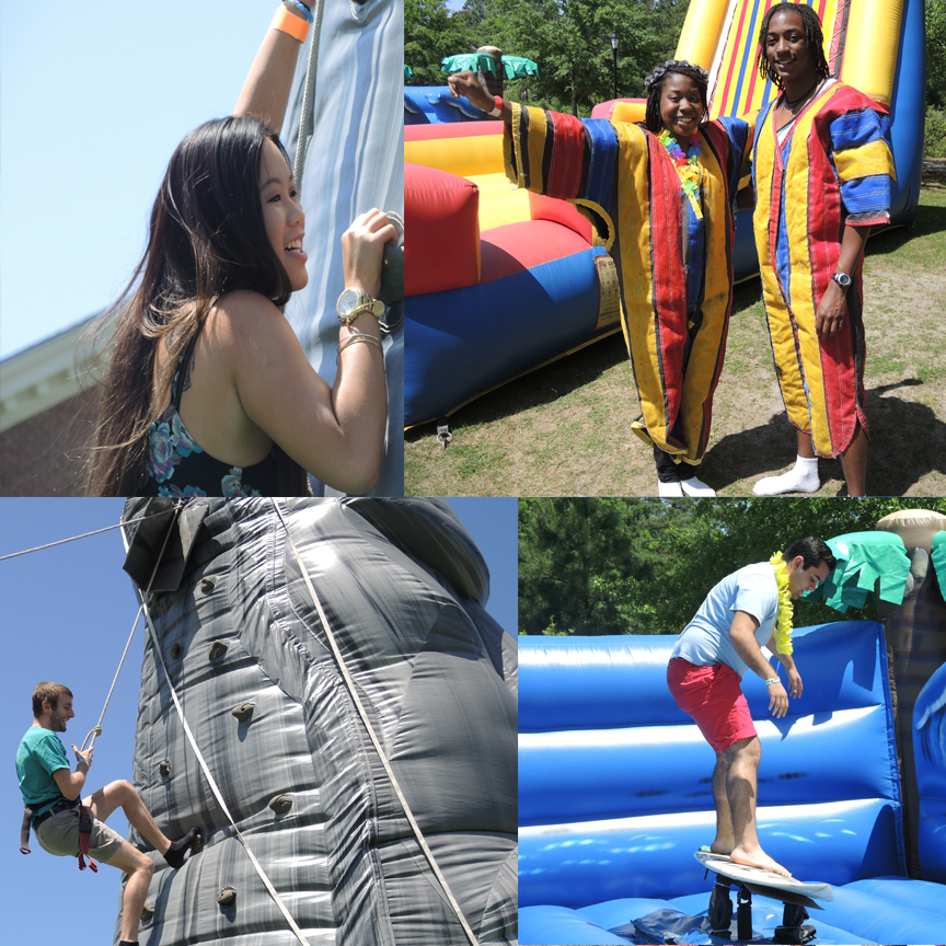 A look at the inflatables at CINO Day.
