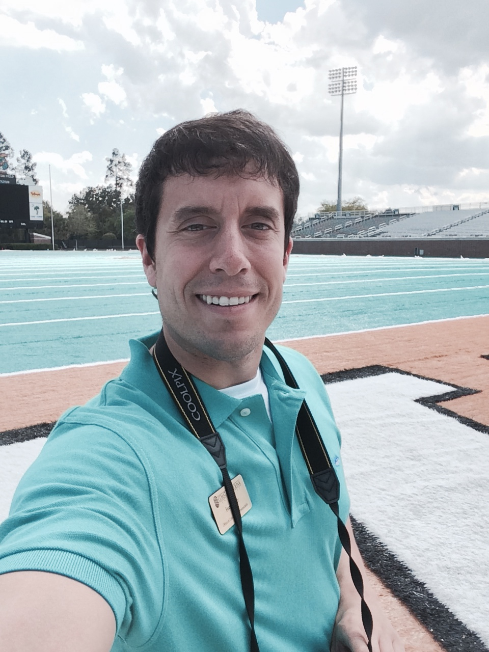Me hanging out on the turf. I love how it looks!
