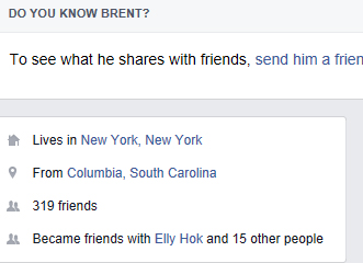 Yes, I know Brent and he doesn't live in New York City nor is he from Columbia, South Carolina.