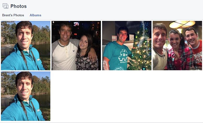The random photos pulled from my Instagram account to be used on my fake Facebook profile.