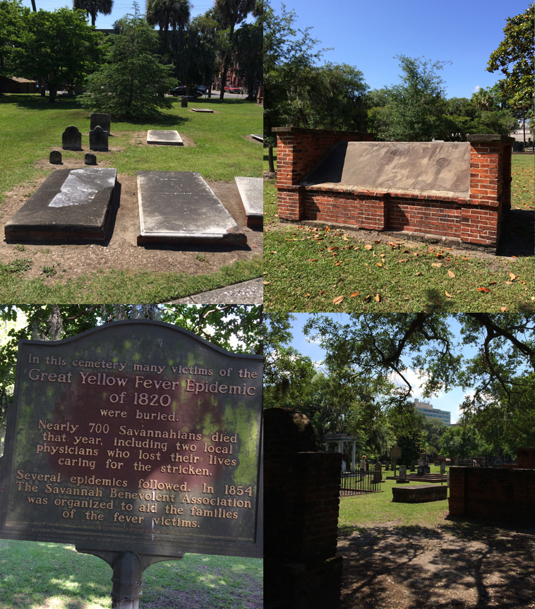 Some images from Colonial Cemetery. As you can see, many of the tombstones you can't even read. In the top right hand image you see one of the crypts that dominate the cemetery.