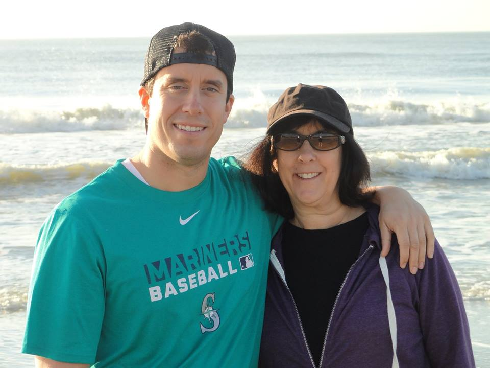 My mom and I at the beach earlier this year.