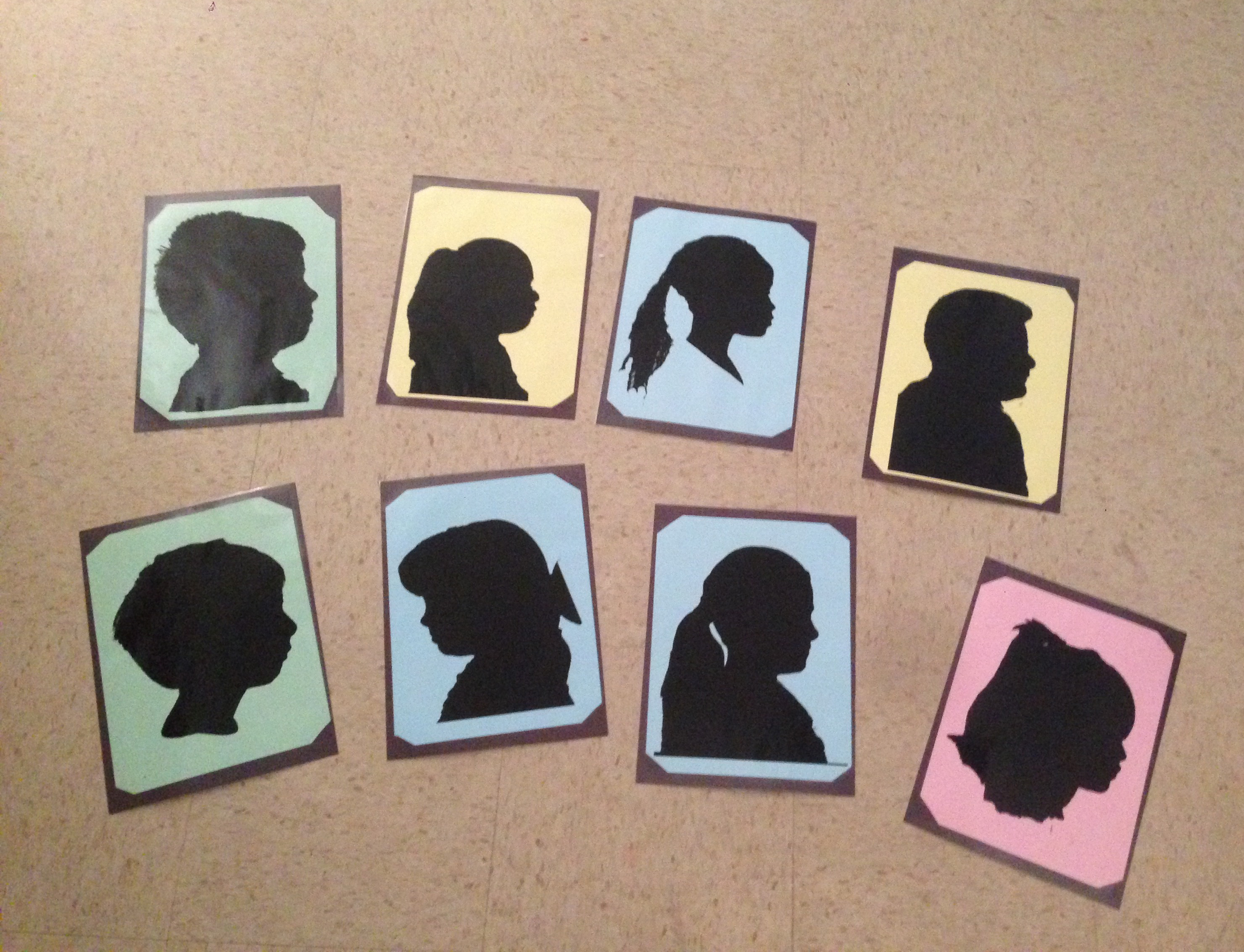 These are the super cool silhouettes that Sidney created for her students to give their moms.