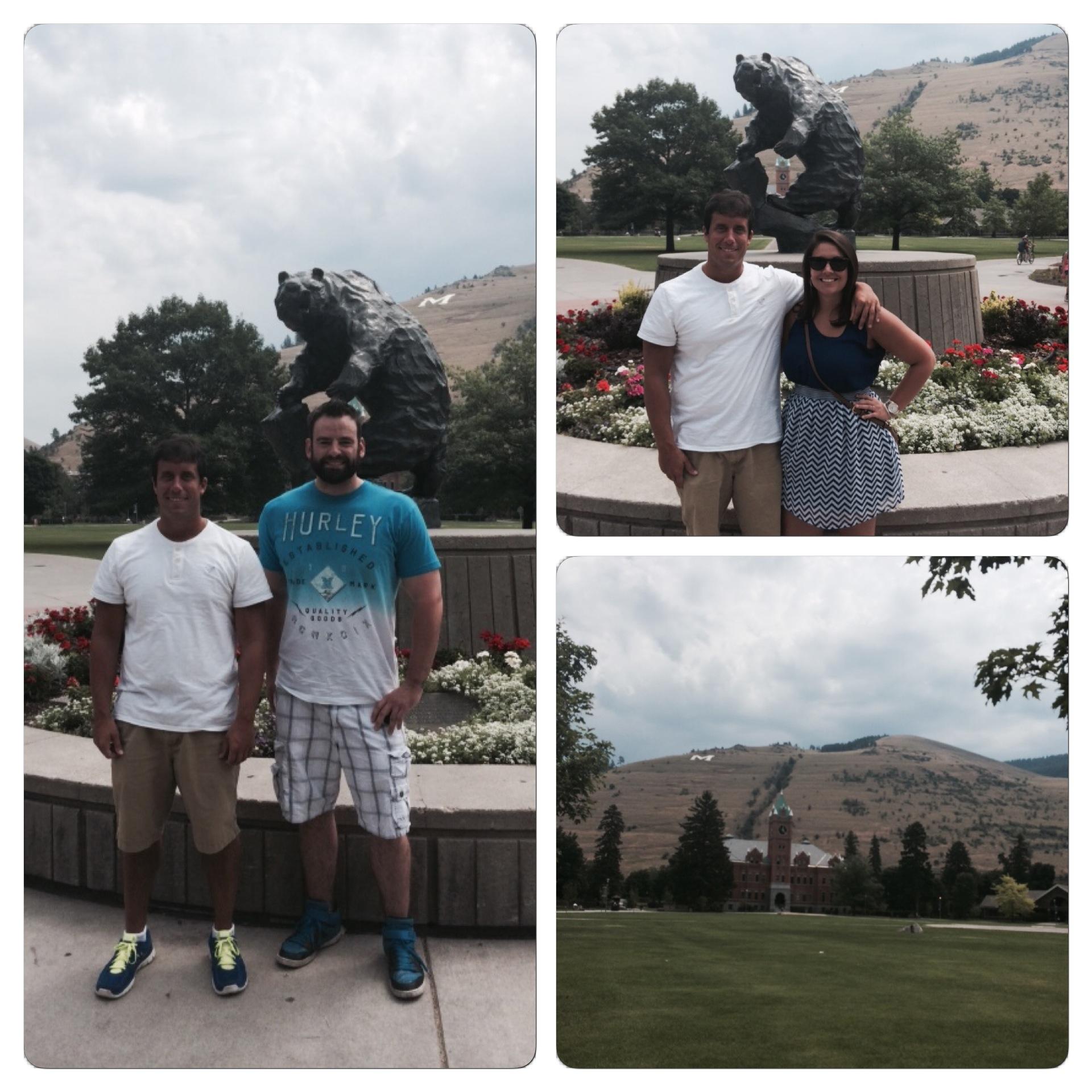 We enjoyed walking around the beautiful University of Montana campus.