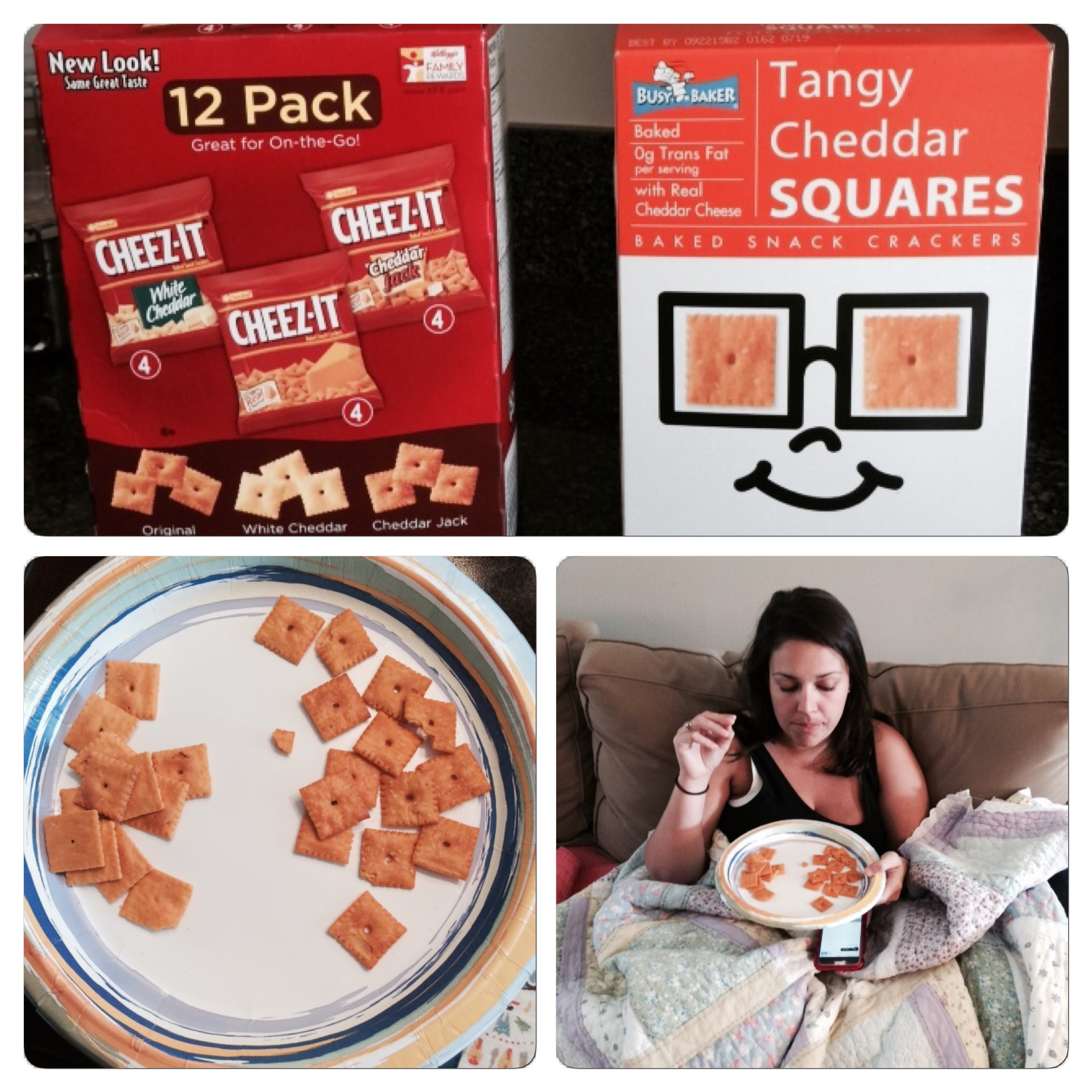 The real Cheez-Its are on the right.
