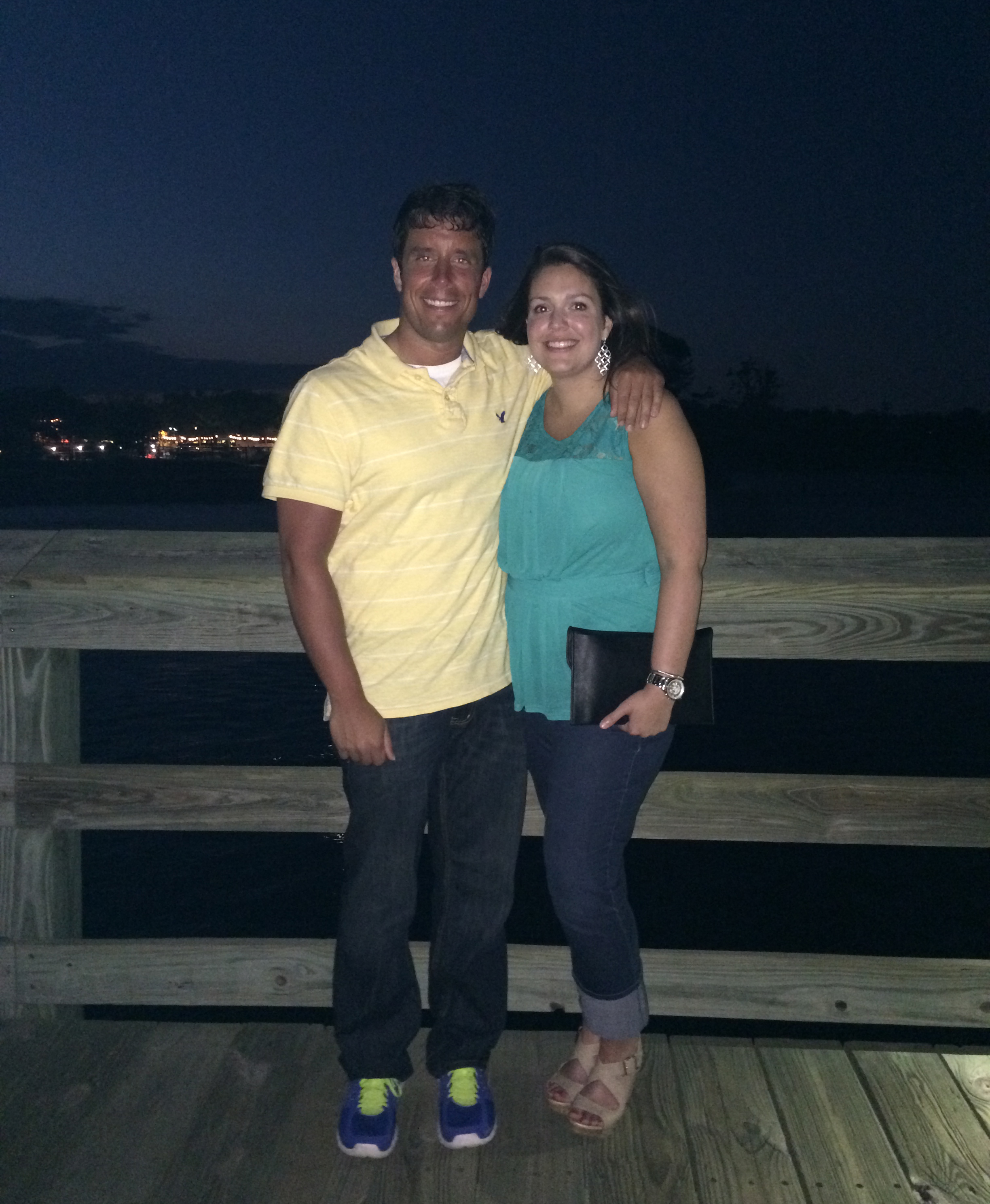 This was the photo from our first date on the pier. Now fast forward 13.5 months....