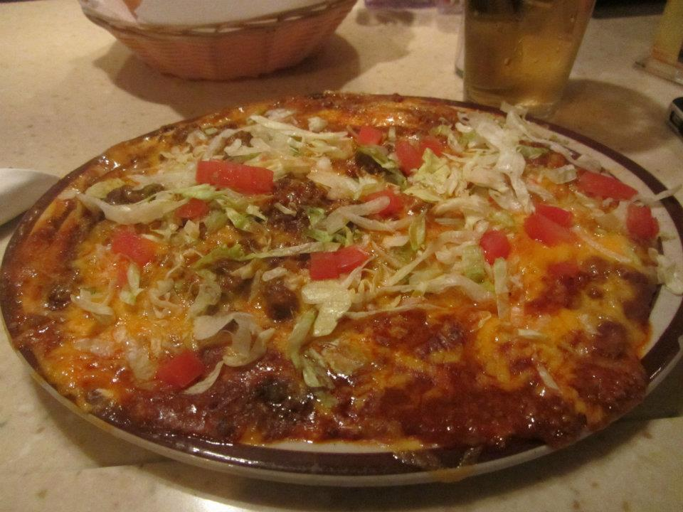 This was a plate of Mexican food that I ate in Albuquerque at a restaurant called Sadie's.