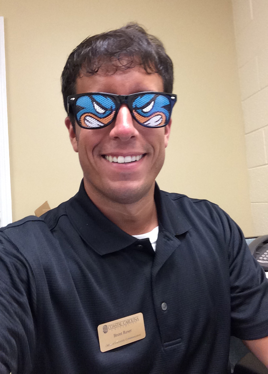Rocking my #CCU Chauncey glasses in the office. These customized glasses are the best.