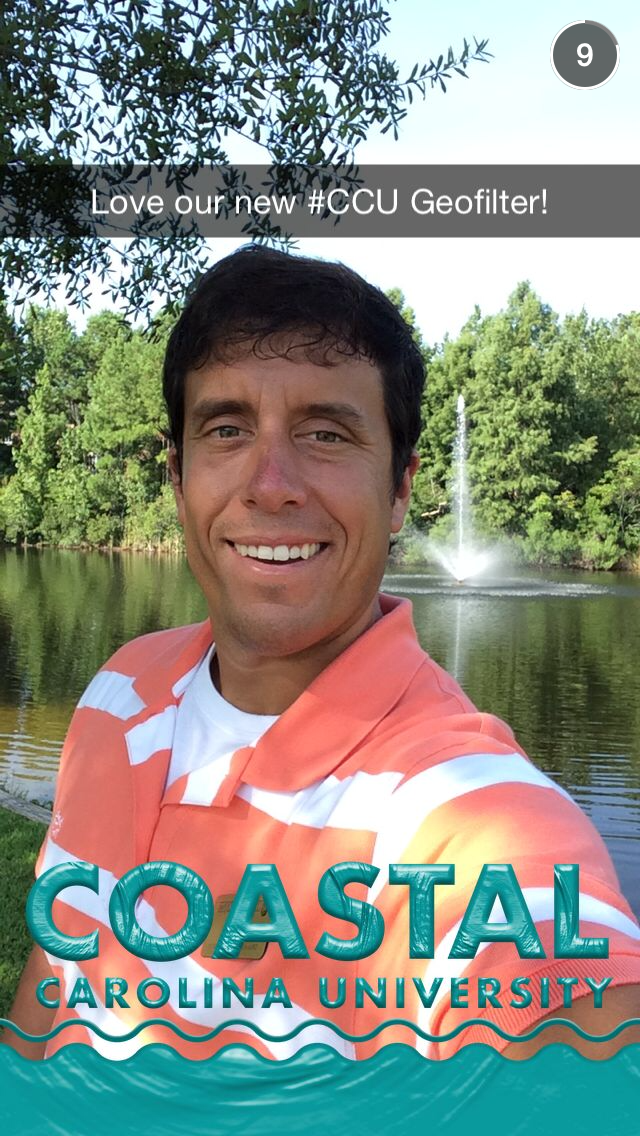 Our Coastal Carolina University Geofilter was accepted and it turned out great!