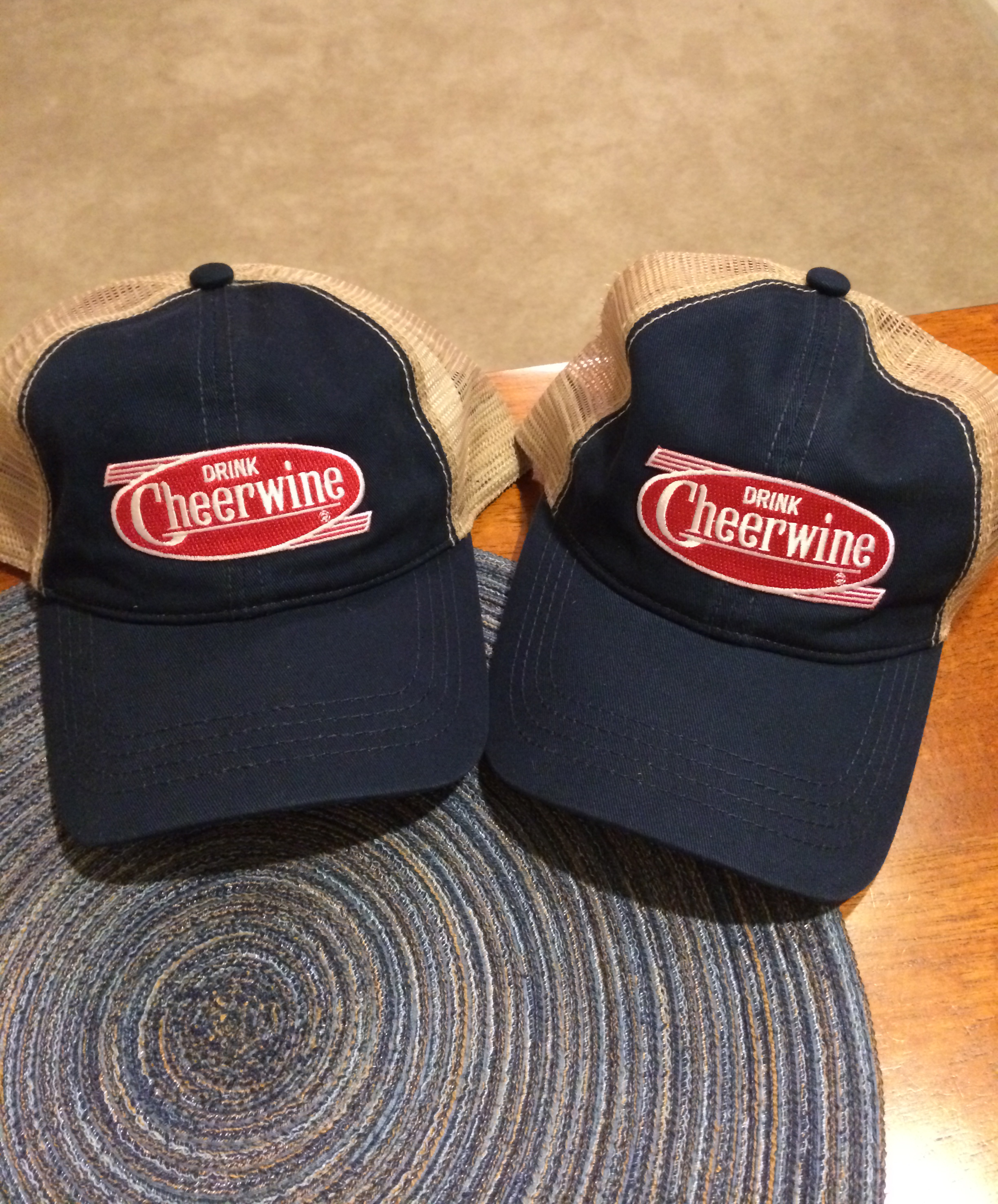 These were the Cheerwine hats we received...pretty nice if you ask me!