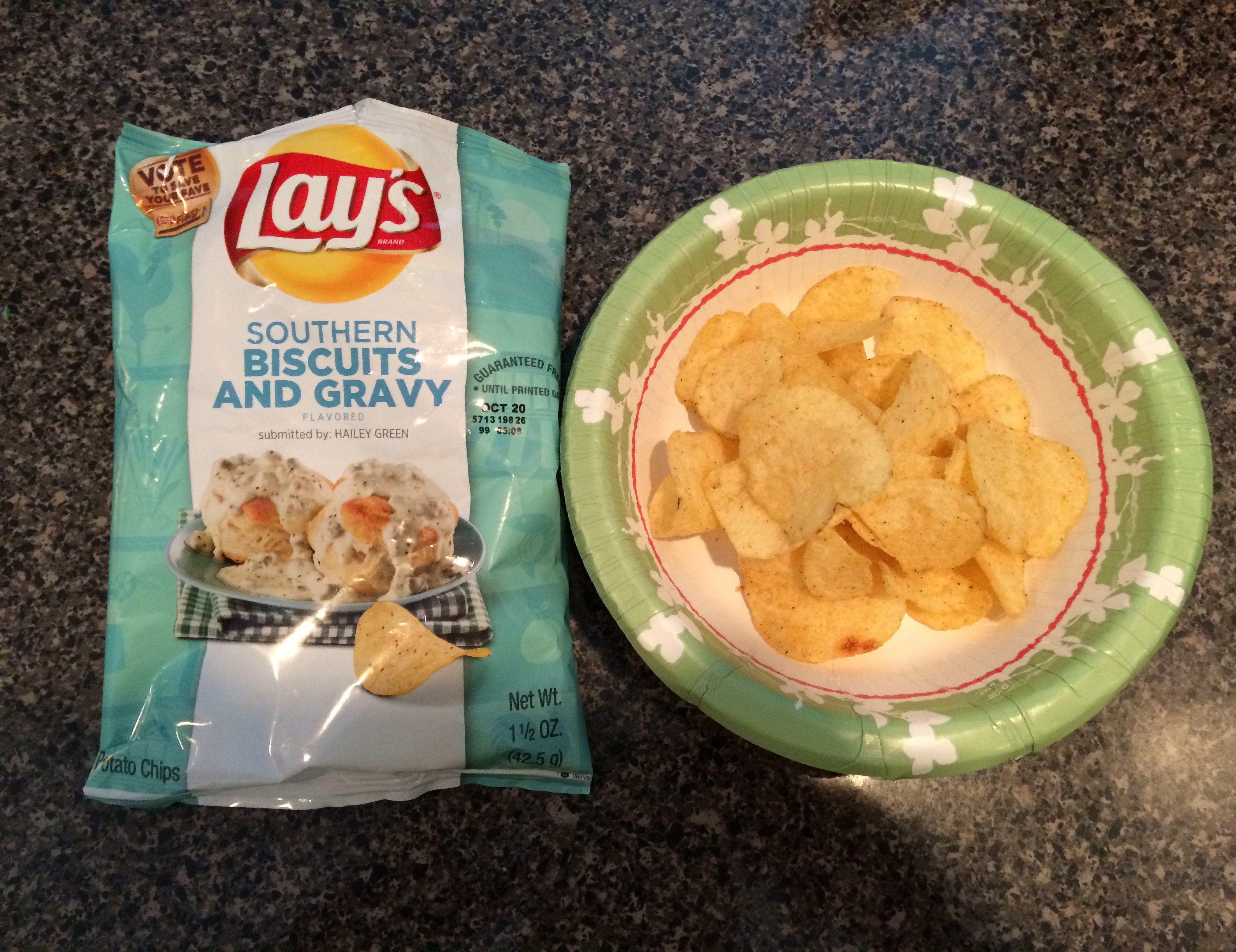 The #DoUsAFlavor Southern Biscuits and Gravy chips were my favorite! They taste exactly like biscuits and gravy.