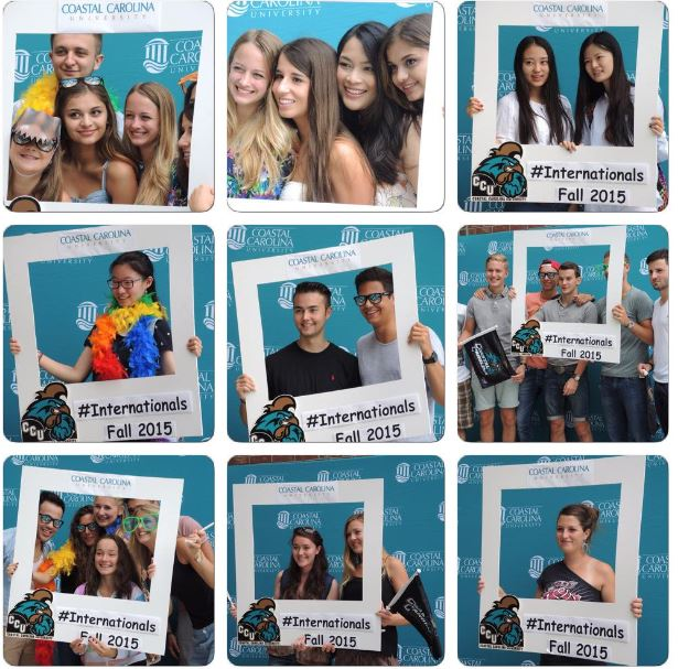 Photos that I took of our international students having fun at the photo station this past Tuesday.