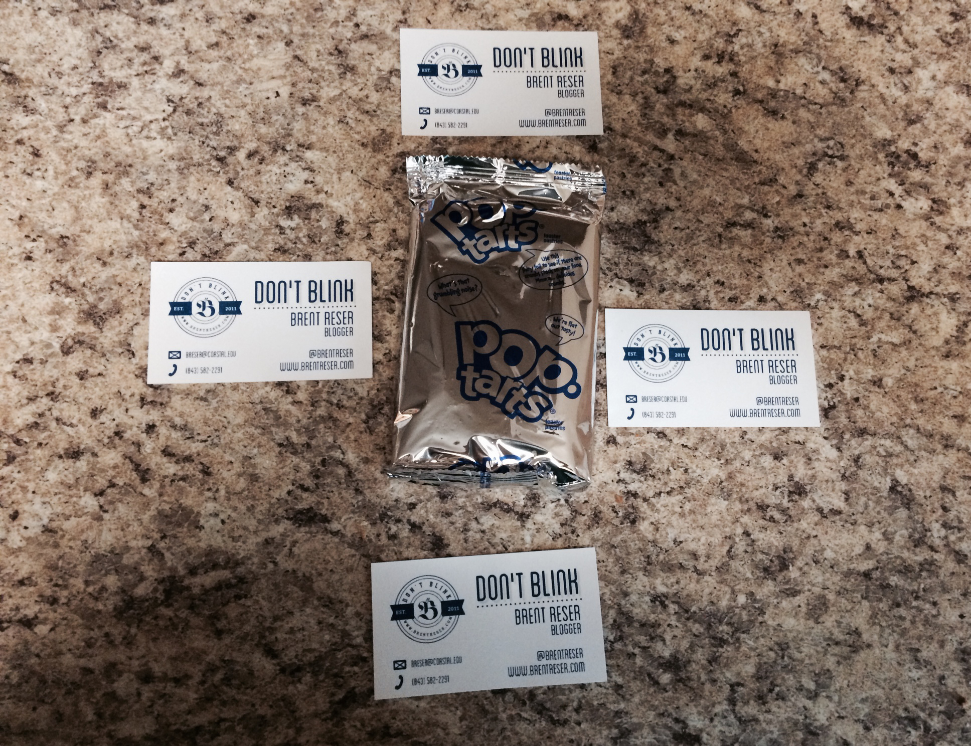 In June, I started bringing Pop-Tart packages just like this to work.