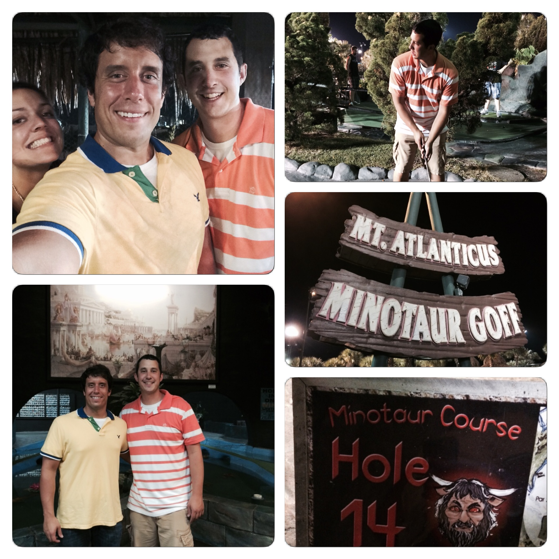 Playing some putt putt at Mt. Atlanticus was a fun way to start Glen's vacation.
