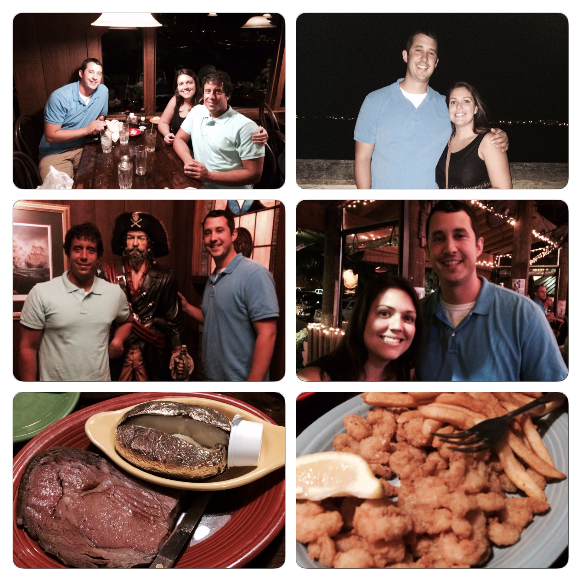 We had a wonderful evening in Murrells Inlet at the Marshwalk.
