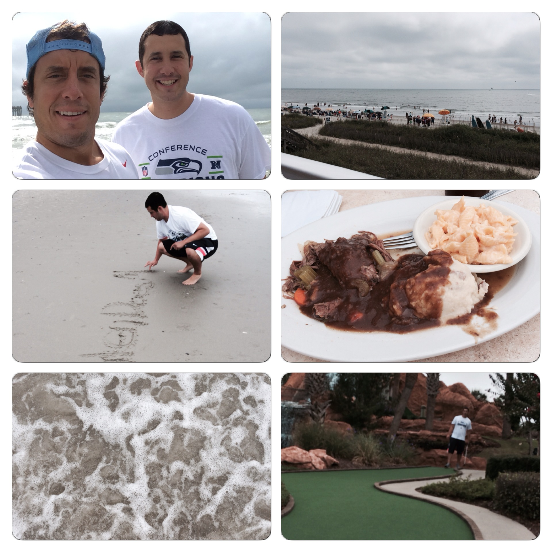 We enjoyed some time at the beach, shot some putt putt at Shipwreck, and ate yummy food at Damon's.