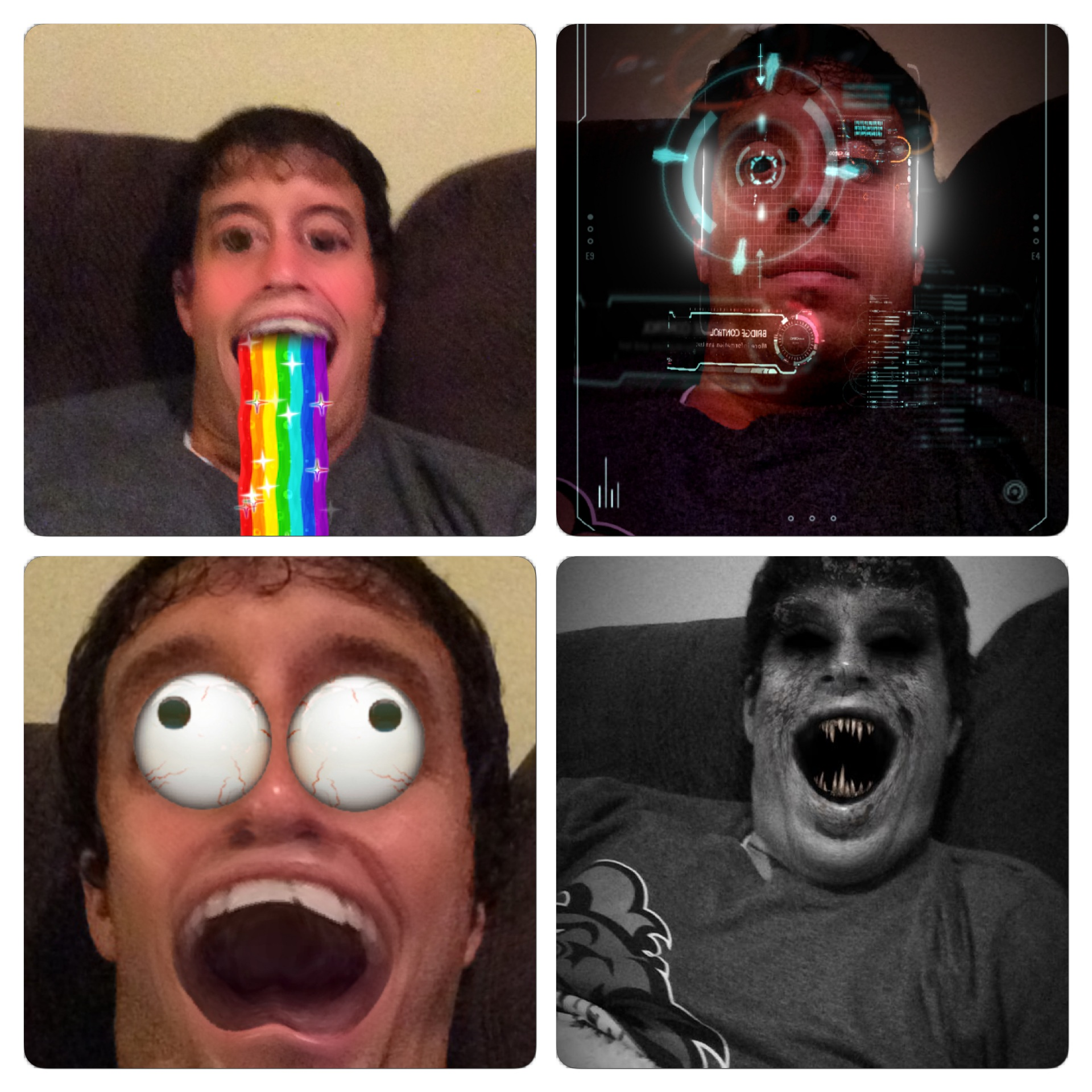 These are some of the new Snapchat filters.