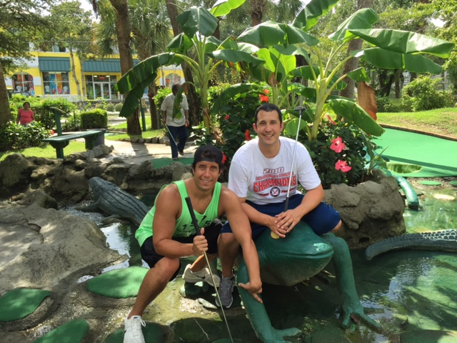 We had a ton of fun playing putt putt. This is Glen and I at Jungle Lagoon.