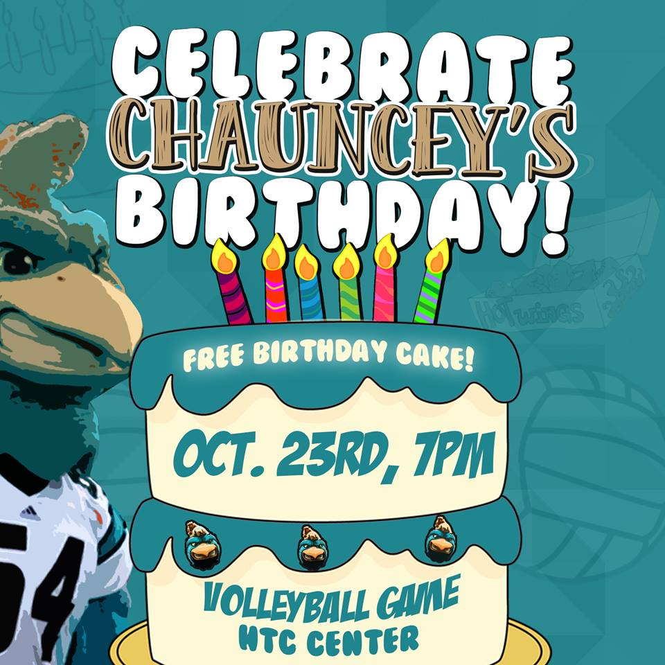 You are invited to Chauncey's birthday party tomorrow night.