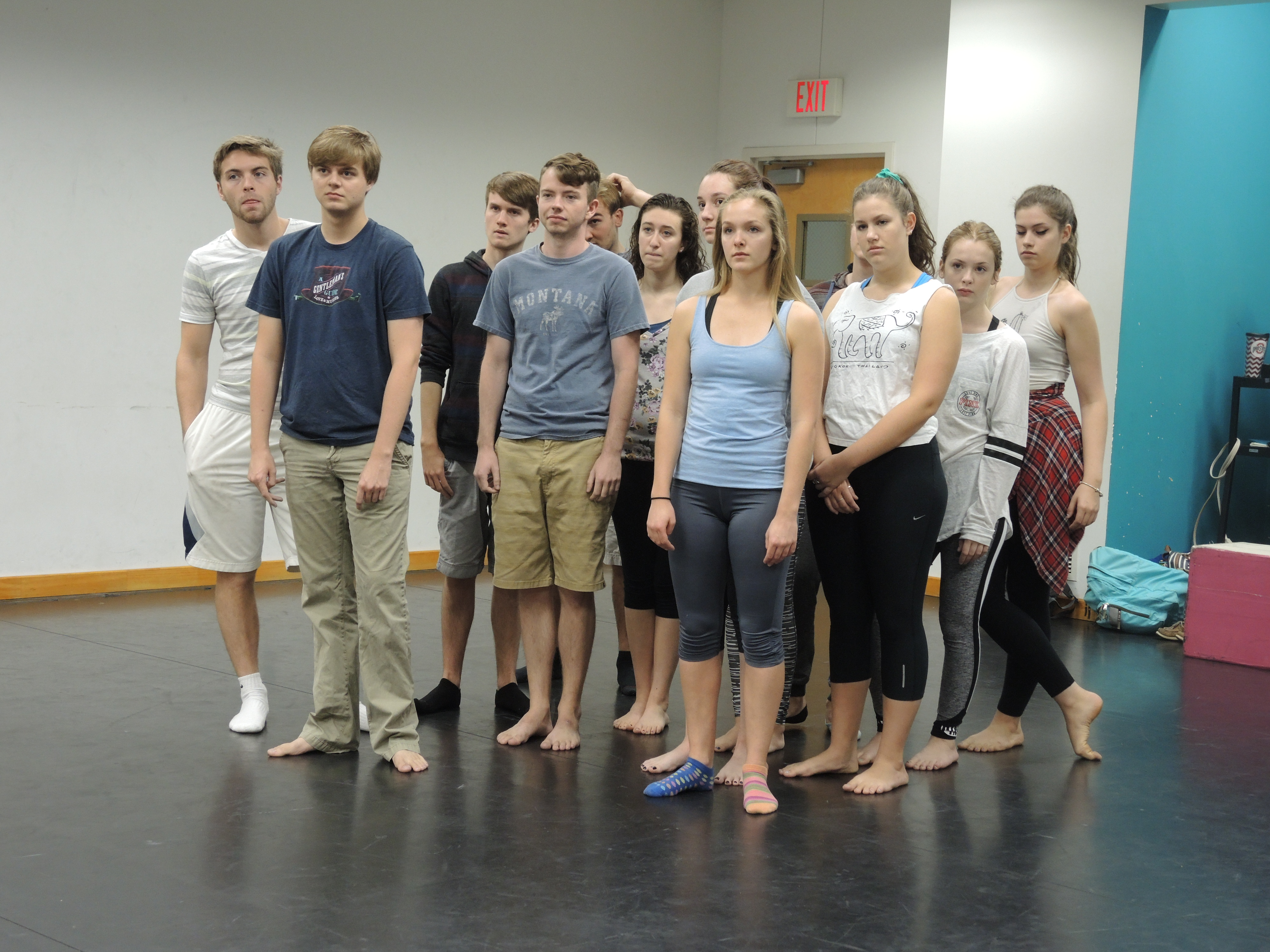 I observed these students in an Acting 150 class today.
