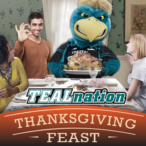 The Teal Nation Thanksgiving Feast will take place over Thanksgiving weekend (graphic designed by Ron Walker).