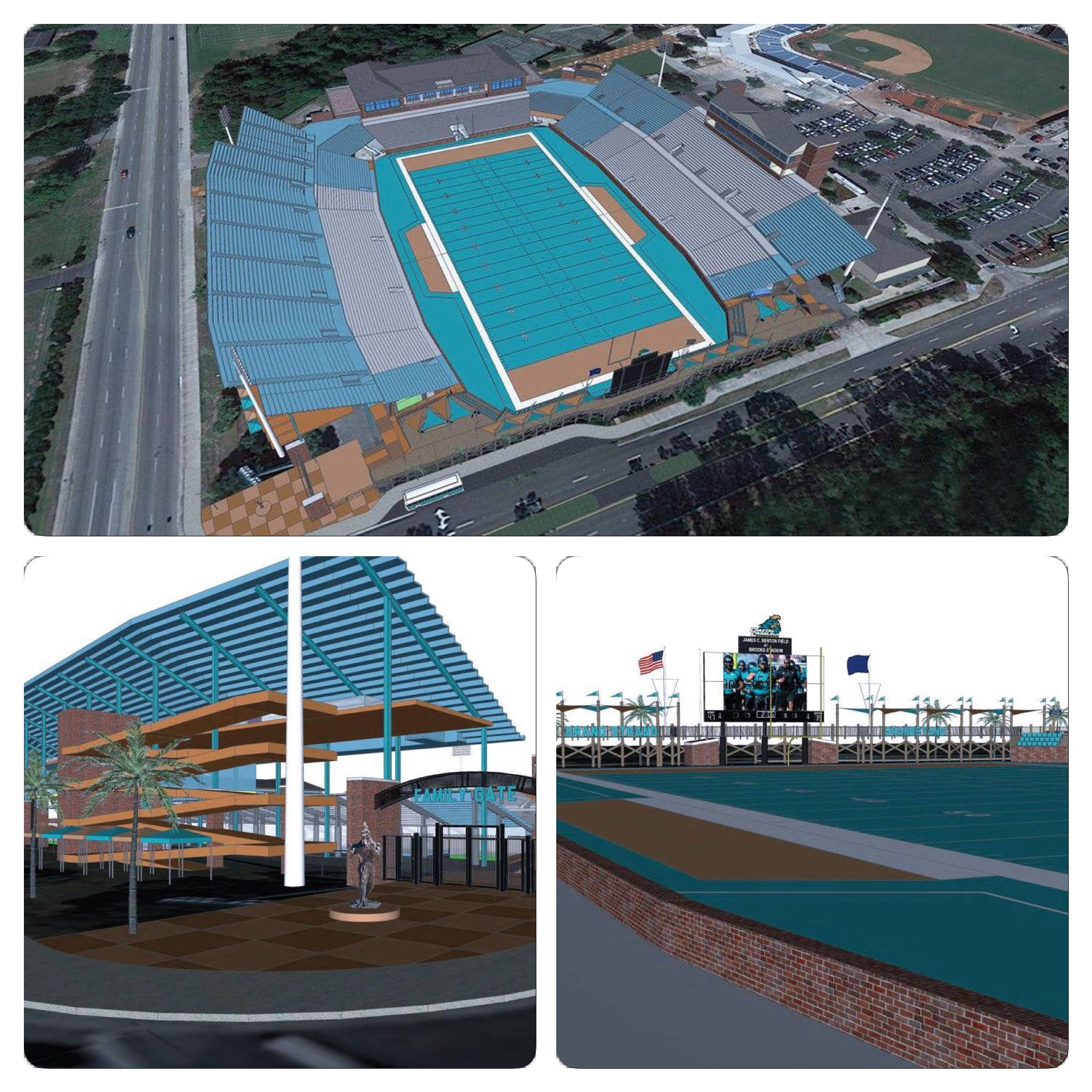 These are the renderings of the expansion to Brooks Stadium.