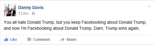 Danny hits the nail on the head with this status.