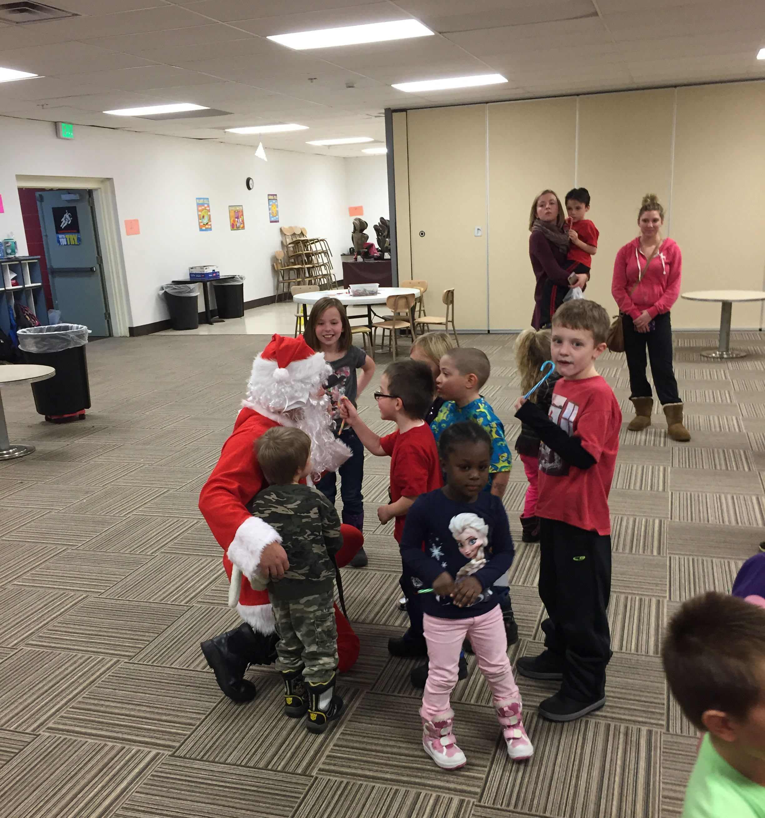 After the reading was finished, the kids enjoyed a meet and greet with Santa.