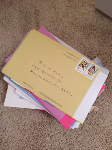 There is nothing better to me than opening up the mailbox and seeing a card addressed to me.