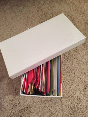 It takes a box to put these 137 cards in.