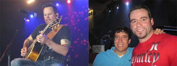 The left photo shows how close we were. This was taken by my camera without zoom. The right image is Dan and I.