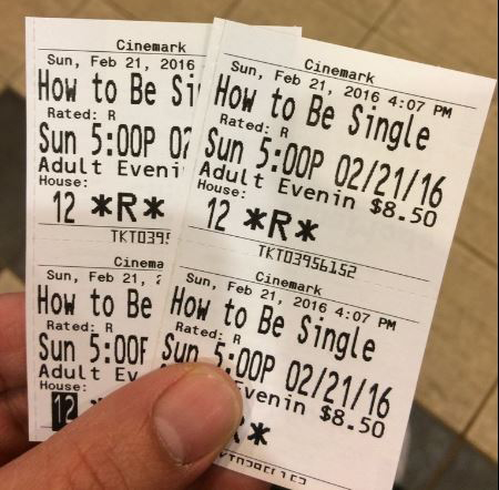 "Sidney and I saw ""How to Be Single"" this past Sunday."