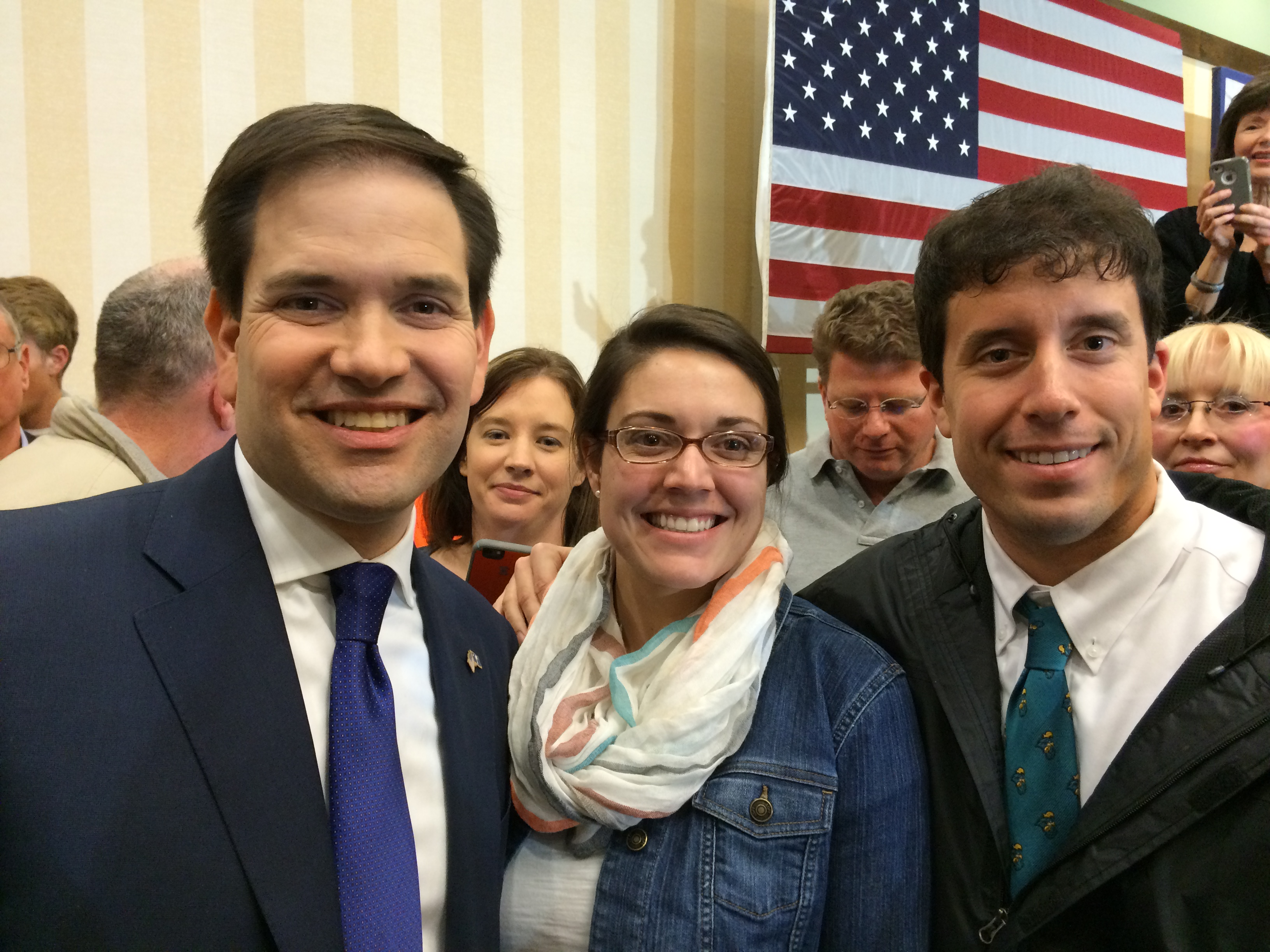 You bet! Sidney and I met Marco Rubio