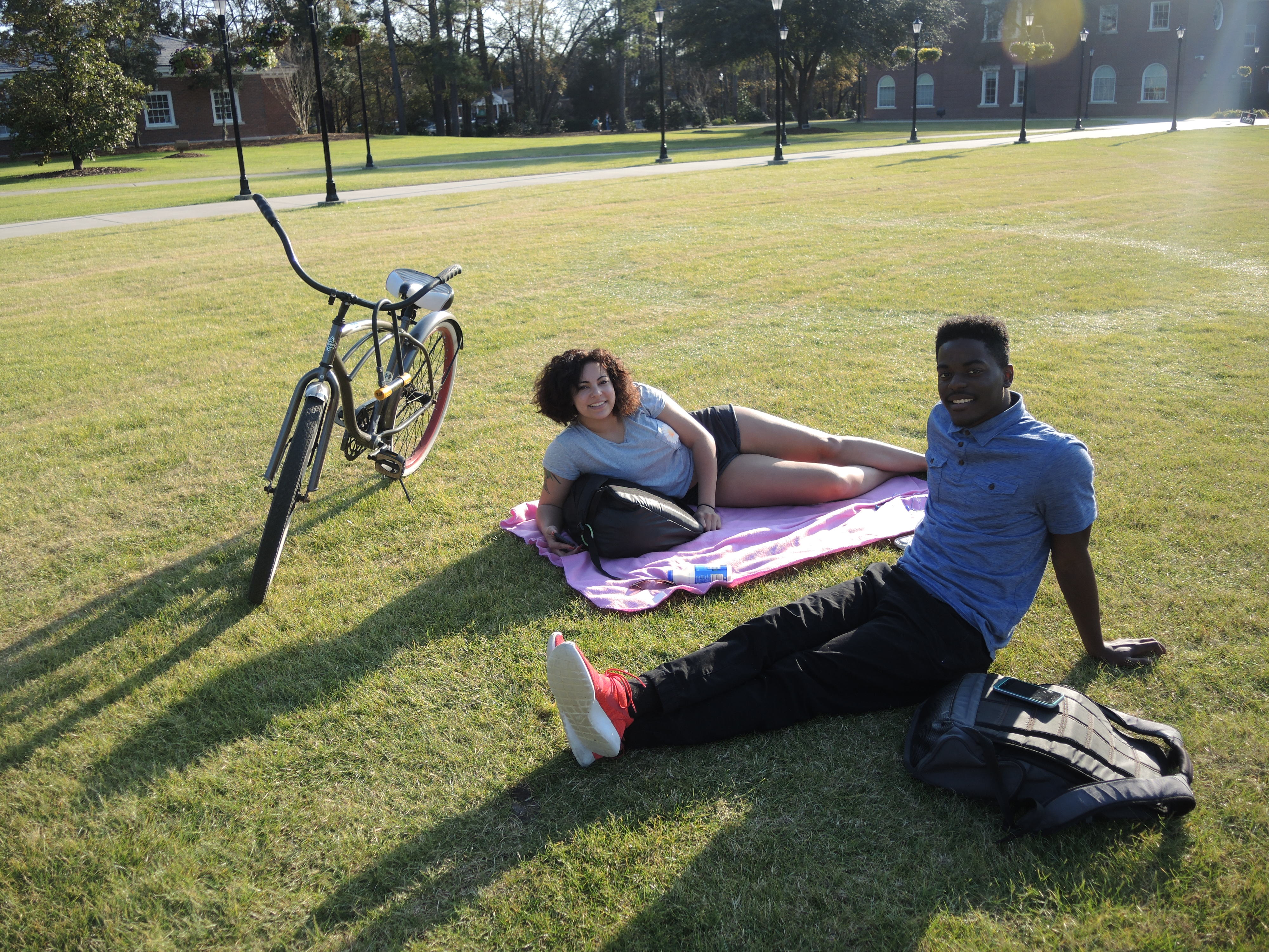 Nothing beats spending class breaks on Prince Lawn underneath the refreshing sun.