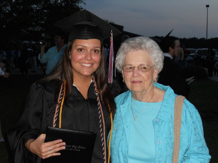 My grandma and I way back on my high school graduation.