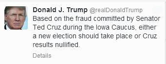 Come on Donald, you need to move past what happened in Iowa.