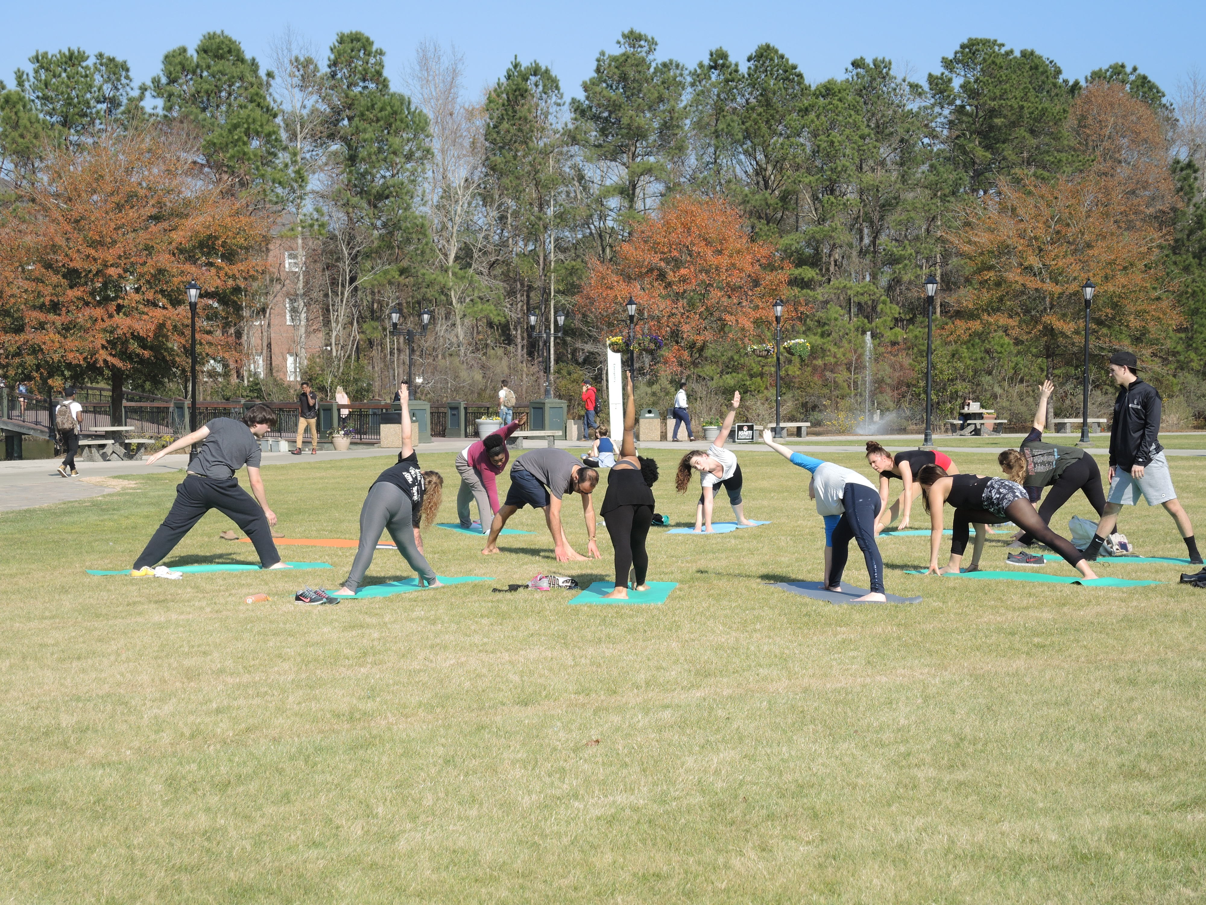 Who has ever heard of outdoor yoga in FEBRUARY?
