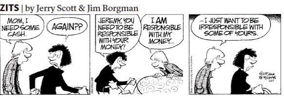 In the past few months I have started to find the humor in comics (this strip was from yesterday's paper).