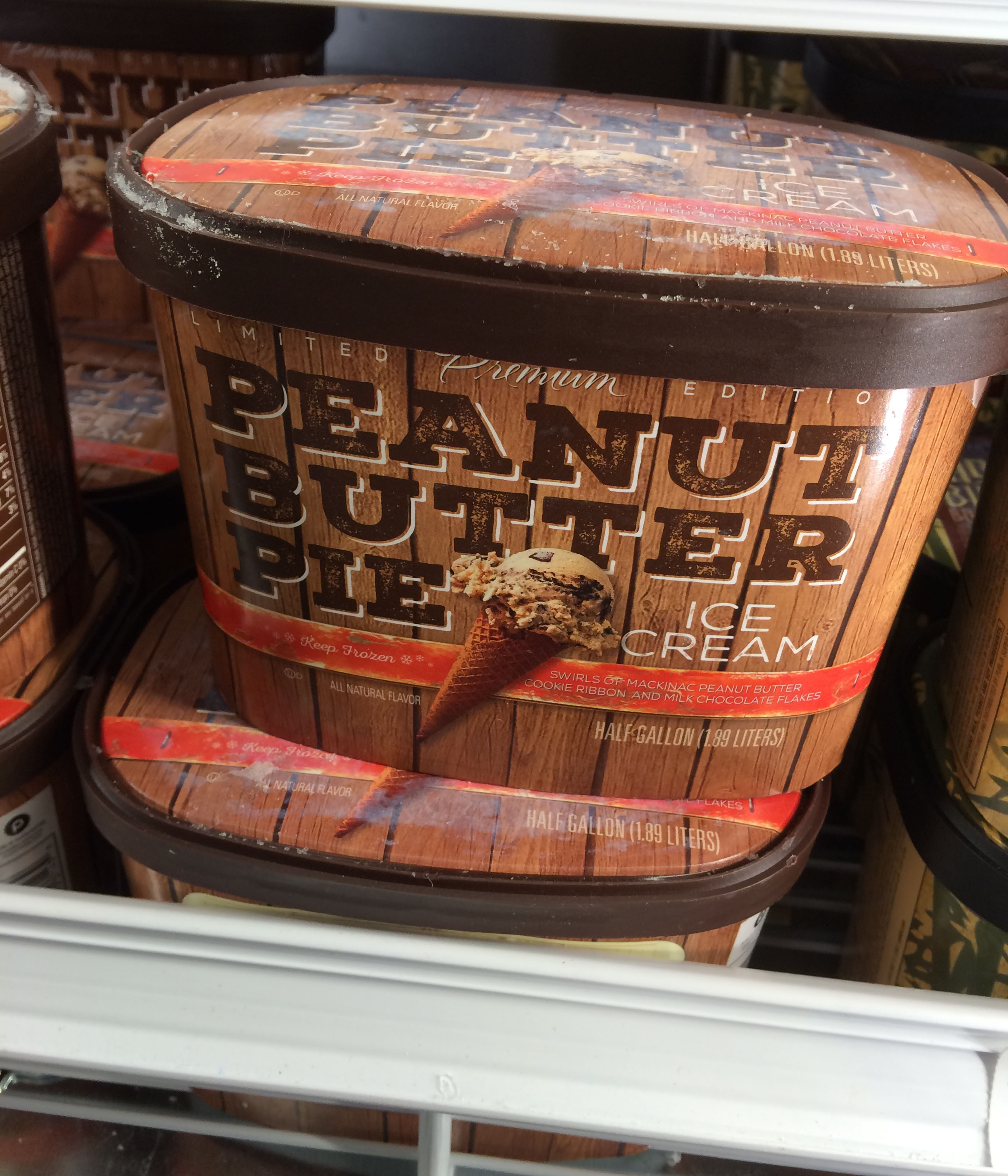 I took this photo of the peanut butter pie ice cream when we visited Publix this past Saturday.