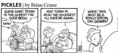 This Pickles strip ran on Monday. Grandpa definitely has a point!
