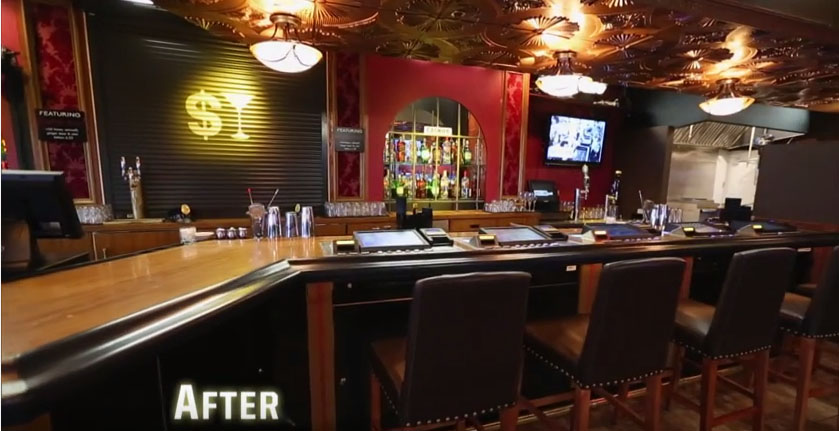 A look at what Murphy's Law looked like after it was converted to Money Bar.