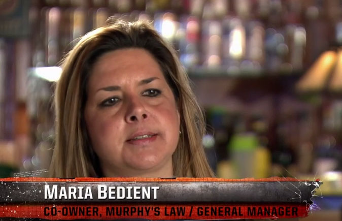 "This is Maria Bedient, the woman who was gracious enough to talk to me about her experience on ""Bar Rescue."""