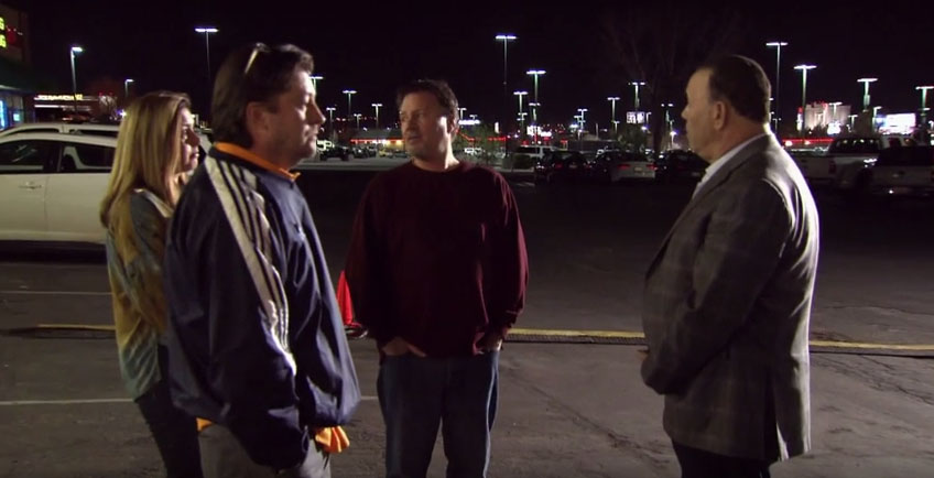 "A major part in the ""Emergency Exit"" episode of Bar Rescue is when Jon Taffer and the three owners meet outside Murphy's Law for a frank discussion."