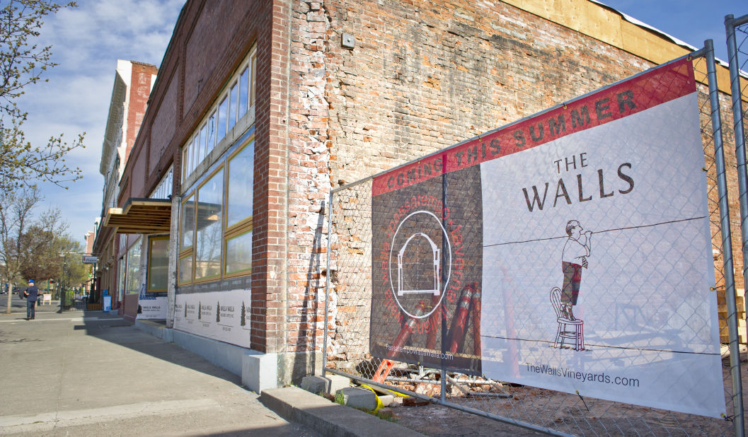 A look at the construction of Passatempo Taverna (photo courtesy of the Walla Walla Union-Bulletin).