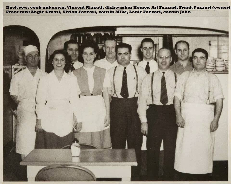 The Pastime staff probably around the mid to late 1940s. My grandpa is in the back row on the far right. His brother (Art), who I also grew up around and who was extremely generous just like my grandpa, is standing right next to him.