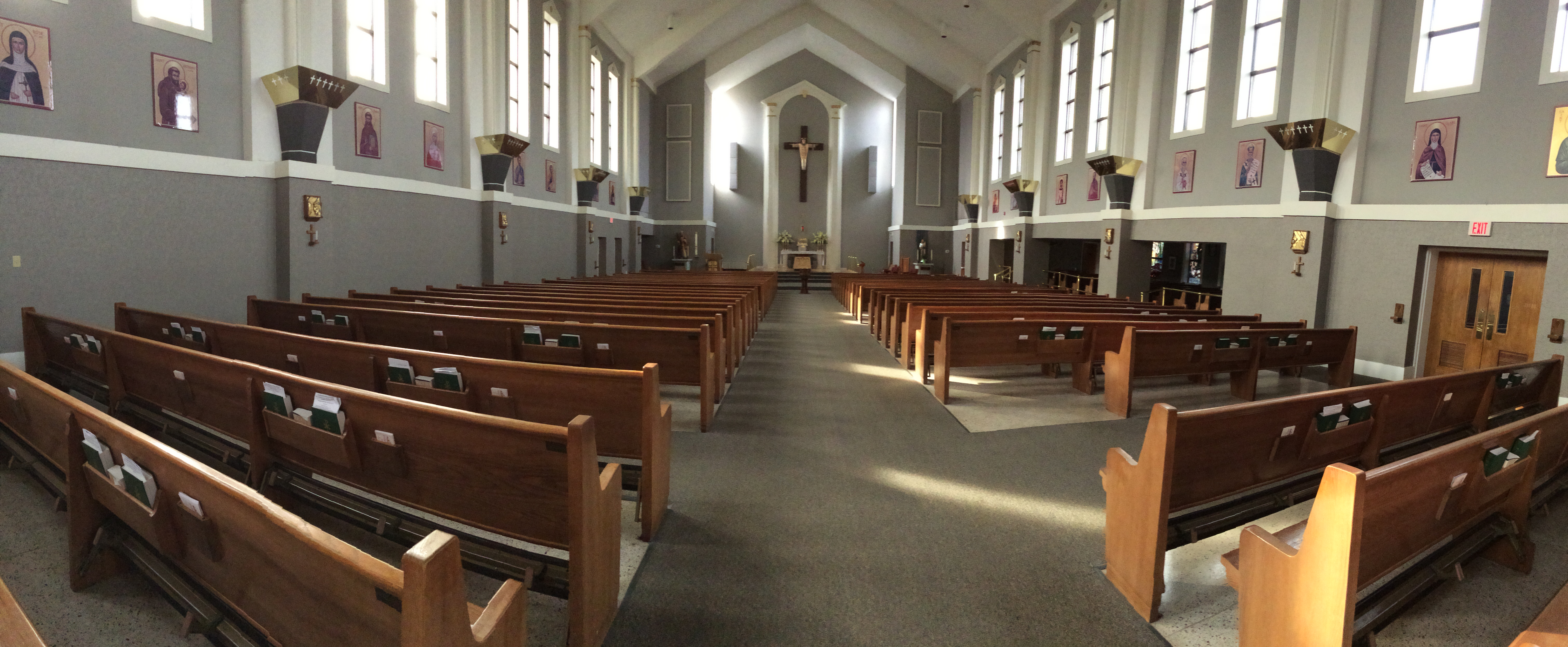 Here is a look at the inside of St. Andrew Catholic Church in Myrtle Beach. I took this photo last night before our meeting with the music director.
