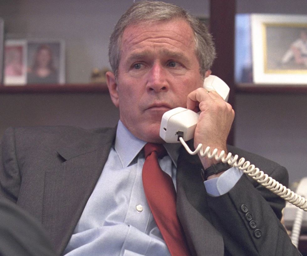 George W. Bush visibly shaken on 9/11. Follow the link for more photos.