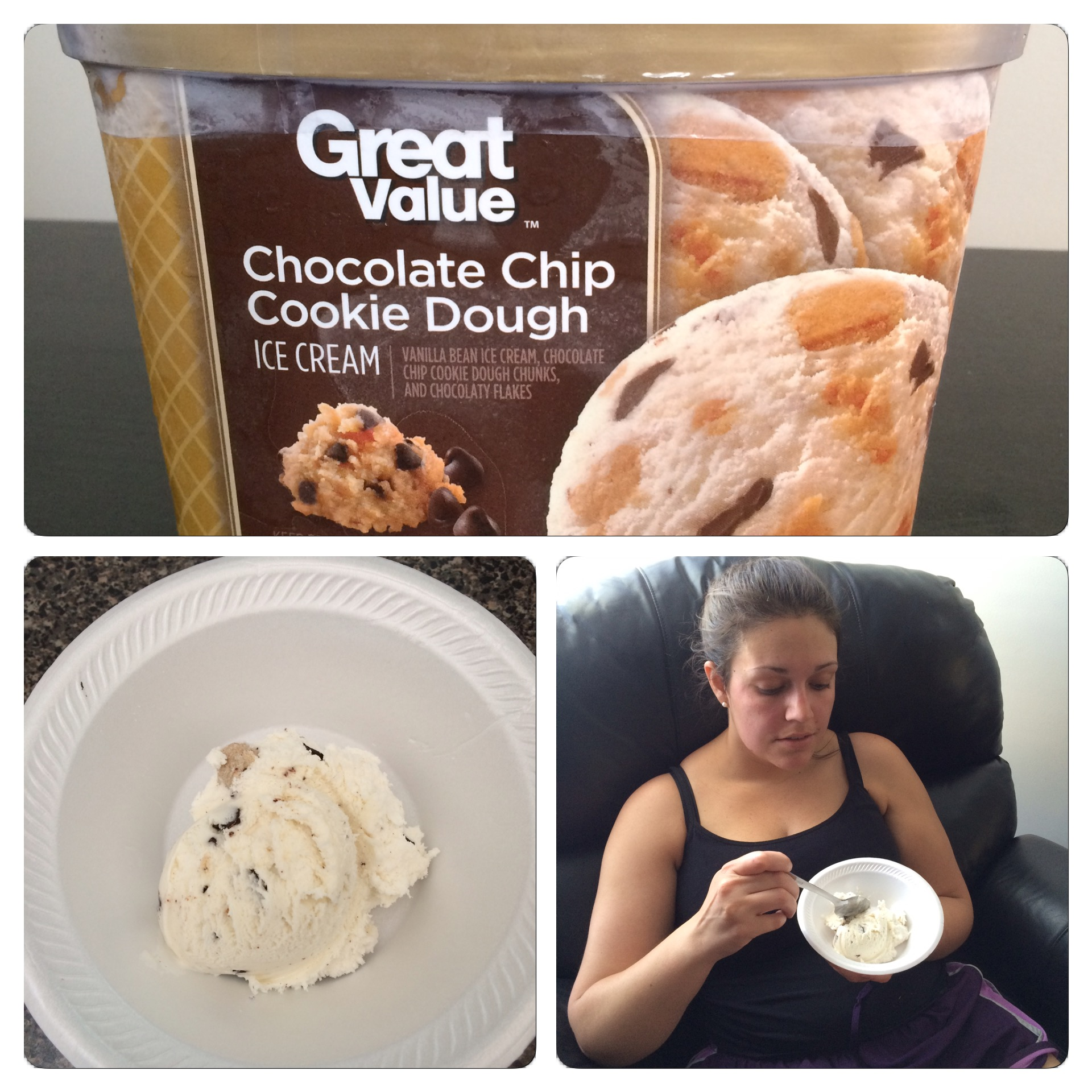 In  the surprise of the century, Sidney liked the Great Value cookie dough ice cream  the best.